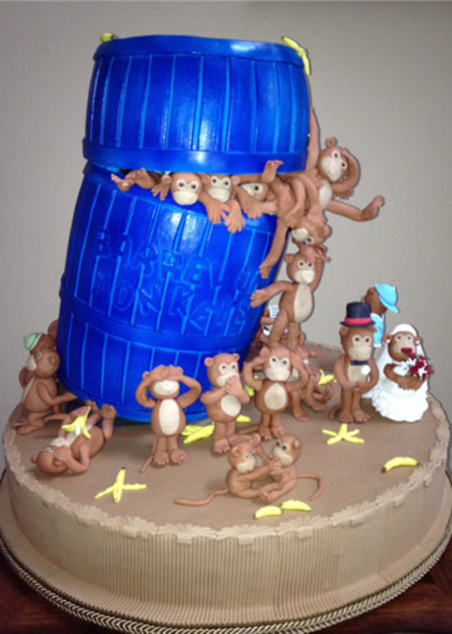 Barrel Of Monkeys Entry In The 2012 Nc State Fair on Cake Central