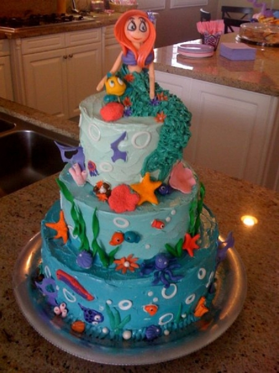 Little Mermaid For A Little Princess on Cake Central
