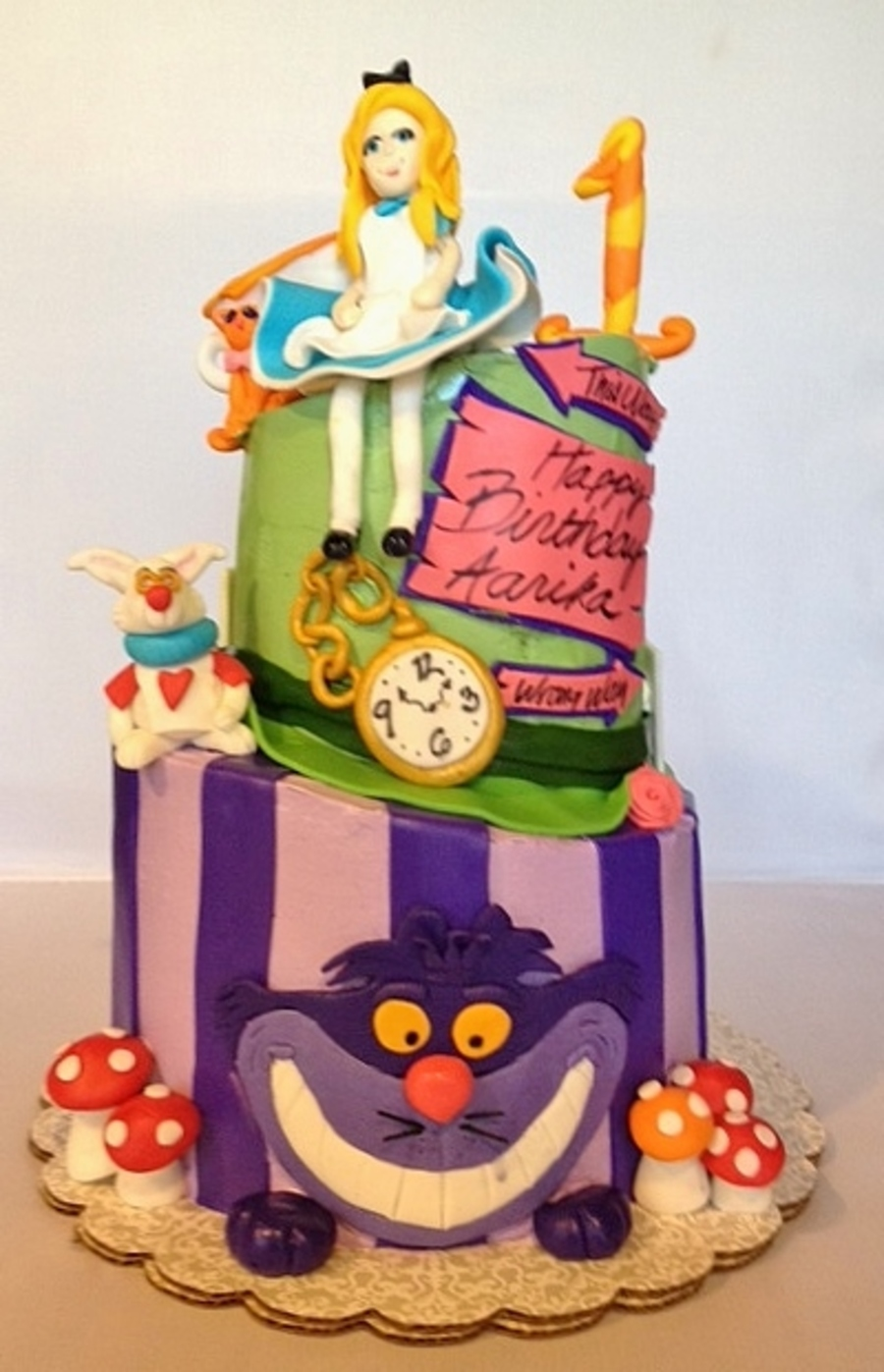 Alice In Wonderland Cake Milk Choc Cake With Cookies And Cream Filling on Cake Central