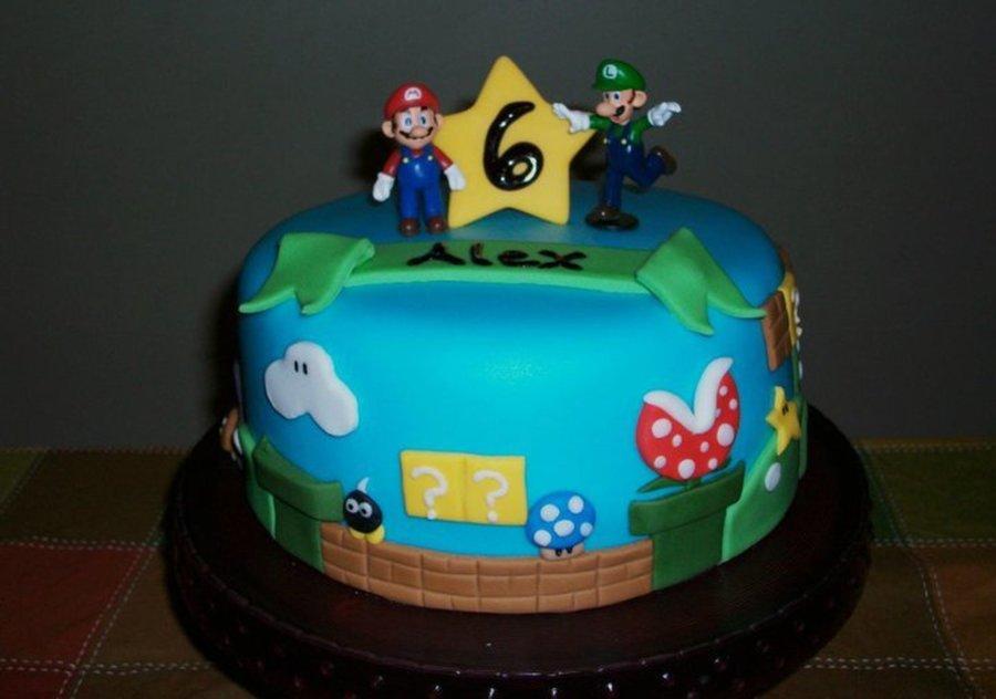 Pleasant Super Mario Birthday Cake Cakecentral Com Funny Birthday Cards Online Fluifree Goldxyz