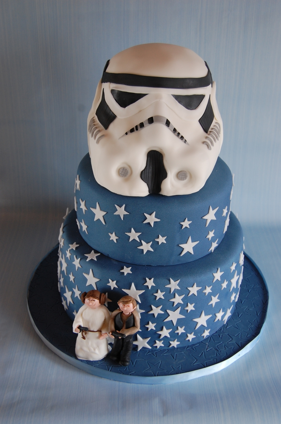 Storm Strooper Wedding Cake on Cake Central