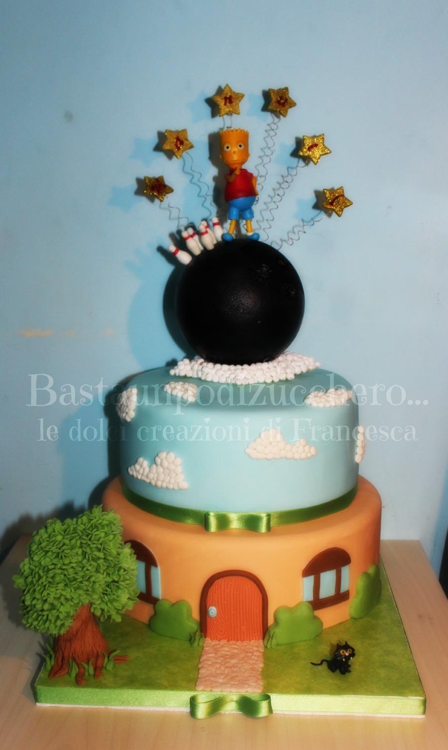 Pleasant Bart Simpson Cake Cakecentral Com Personalised Birthday Cards Veneteletsinfo