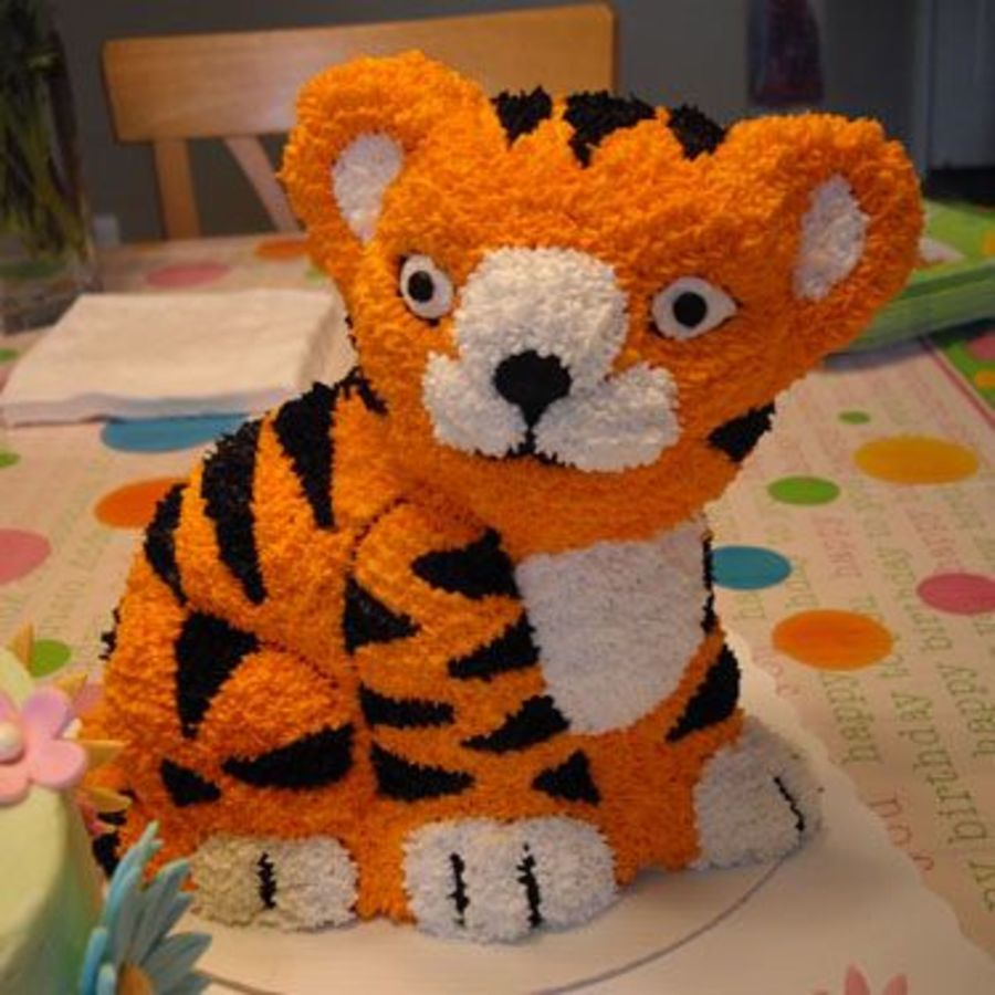 how to make a 3d tiger cake
