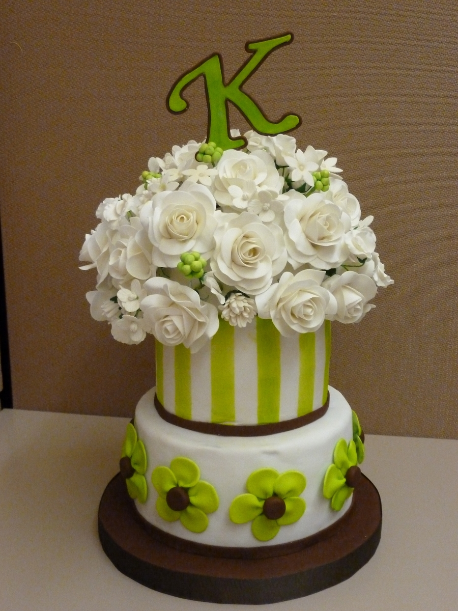Lime Green Cake on Cake Central