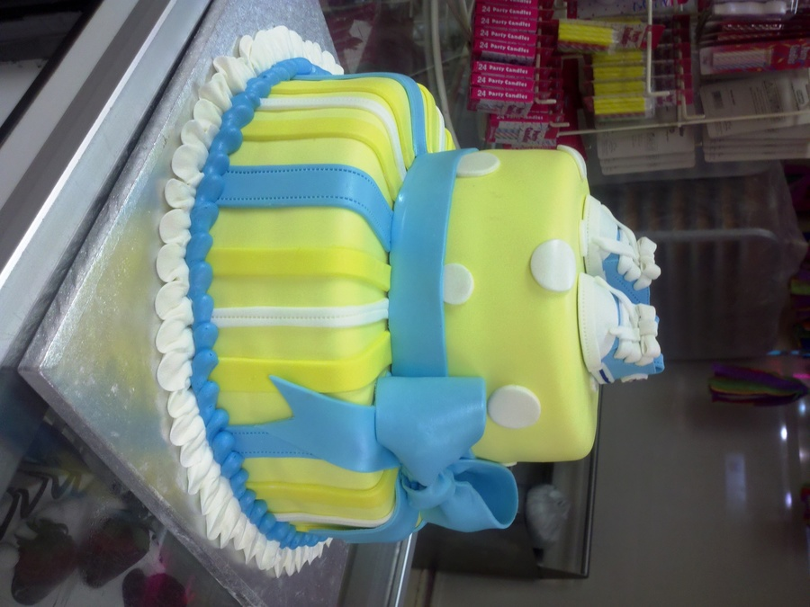 Blue Yellow Baby Shower on Cake Central