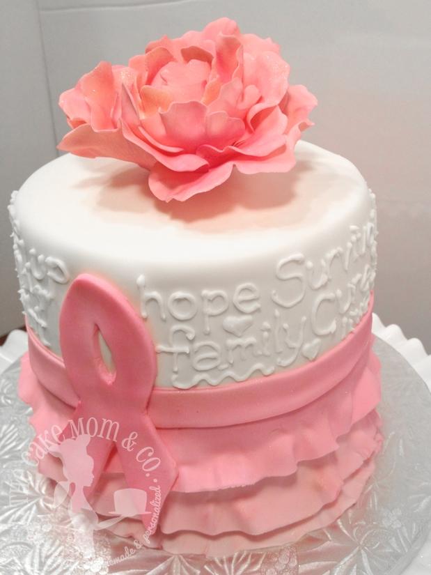 Pink Ribbon Breast Cancer Survivor Cake - CakeCentral.com