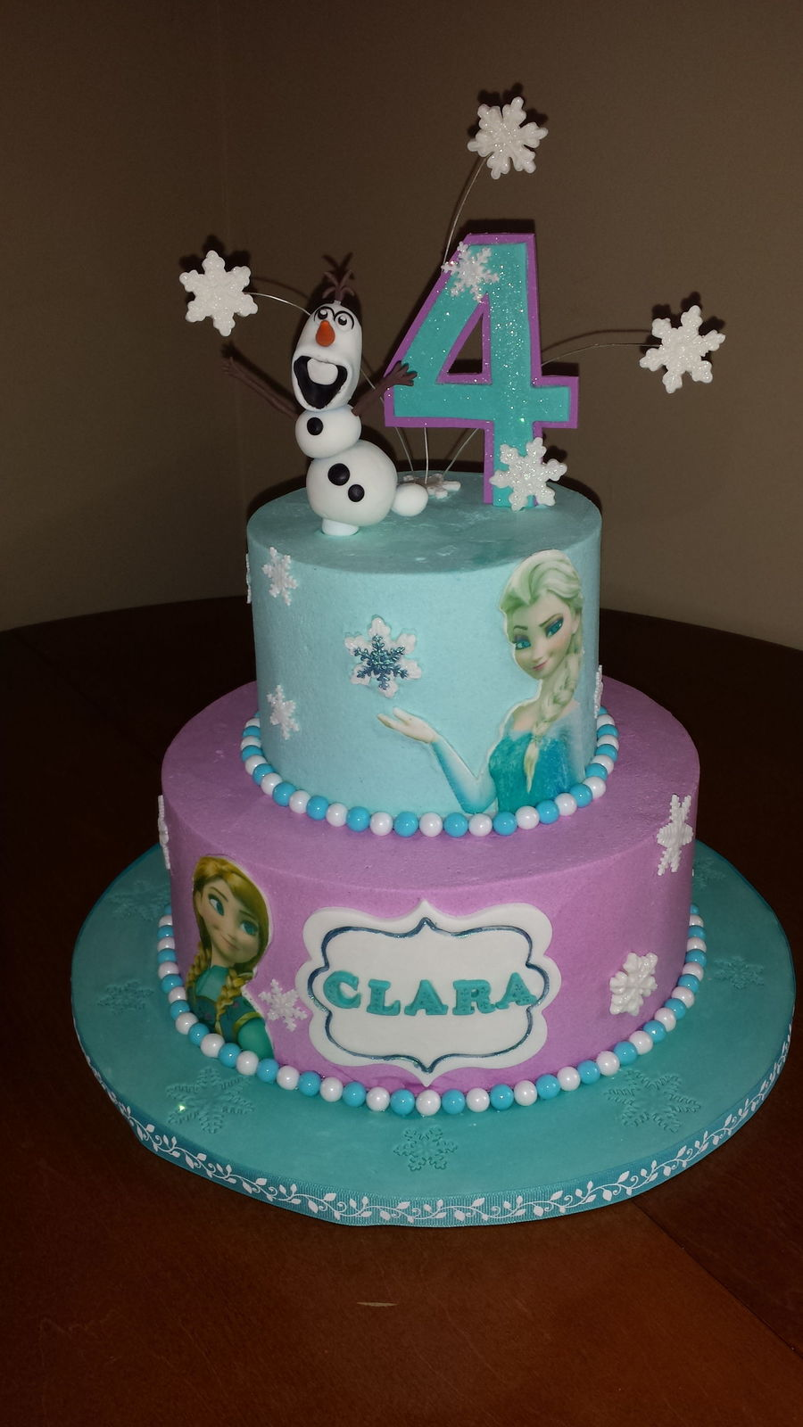 Swell Frozen Themed Birthday Cake Cakecentral Com Personalised Birthday Cards Rectzonderlifede