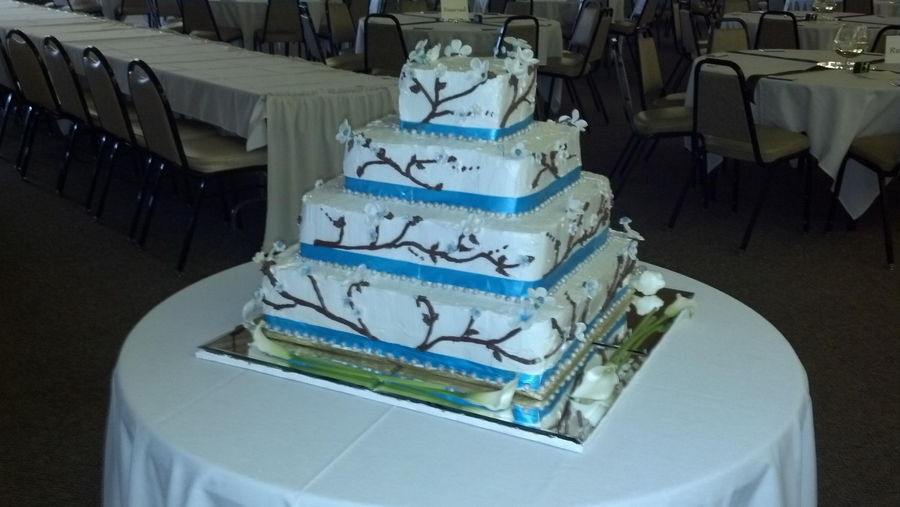 how to cut a square tiered wedding cake 4 tiered sqare wedding cake cakecentral 15623