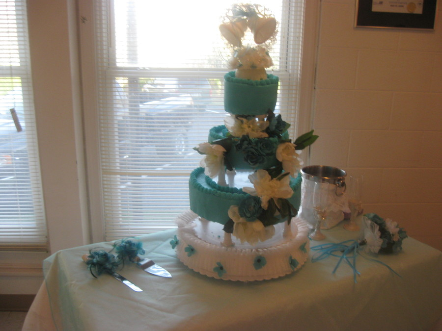 Wedding Cake For A Friend Flowers Brides Choice And The Bottom Tier The Bride Make For Her Stand on Cake Central