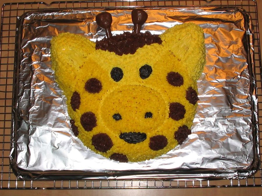 Giraffe 1St B-Day Cake on Cake Central