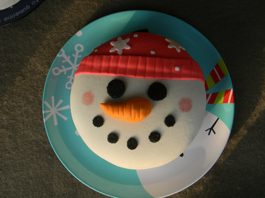 Snowman Face Cake All Mmf on Cake Central