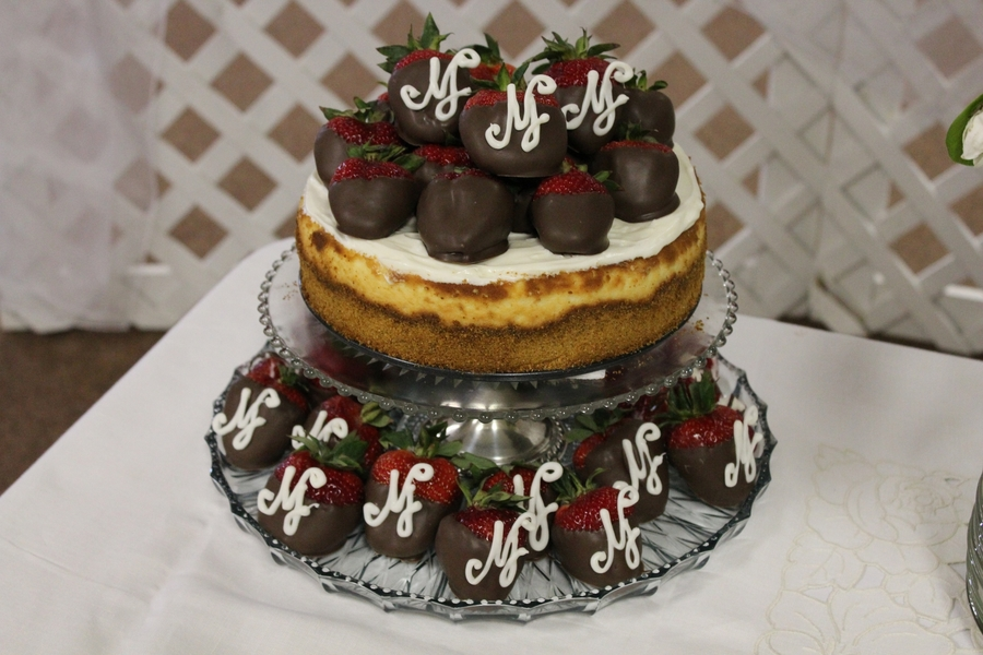 Cheesecake With Monogramed Strawberries on Cake Central