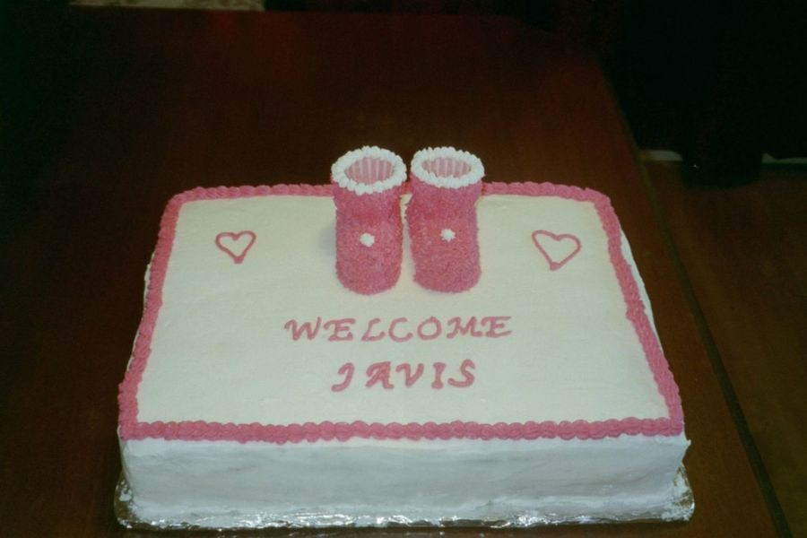Pink Baby Booties on Cake Central