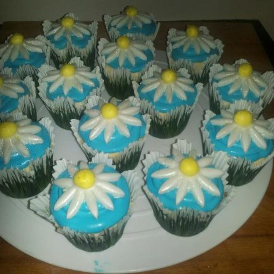 Girl Scout Daisy Cupcakes on Cake Central