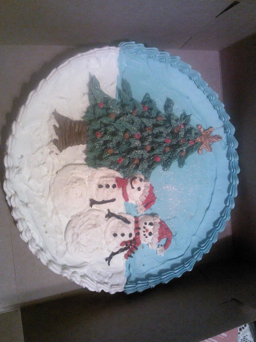 Giant Christmas Cookie on Cake Central