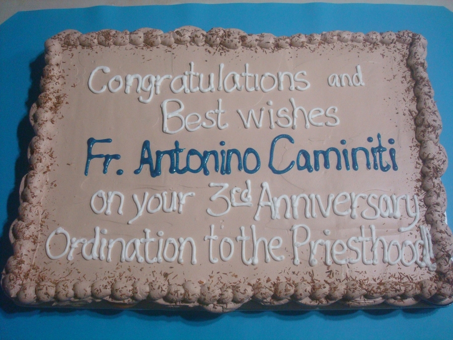 Cup Cake For Fr. Antonino on Cake Central