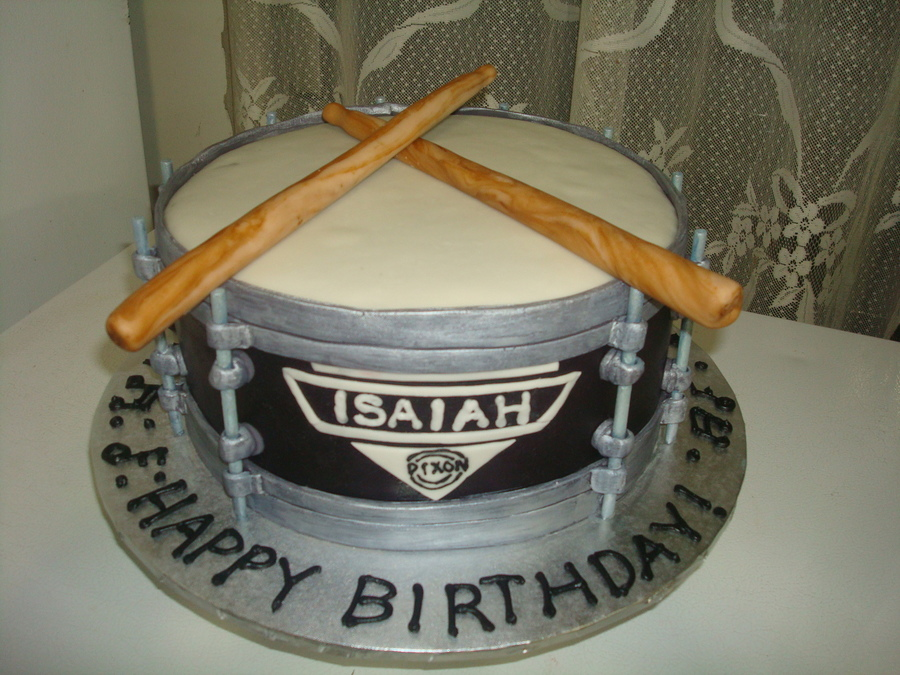 Drum Cake For Isiaah on Cake Central