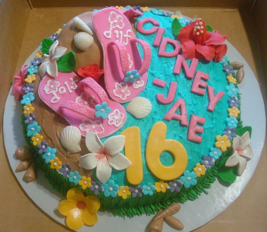 Luau Sweet Sixteen Cakecentral Com