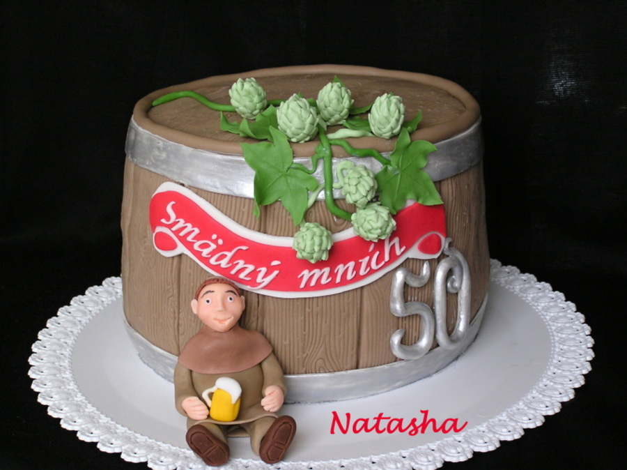 Beer Barrel Thirstily Monk on Cake Central