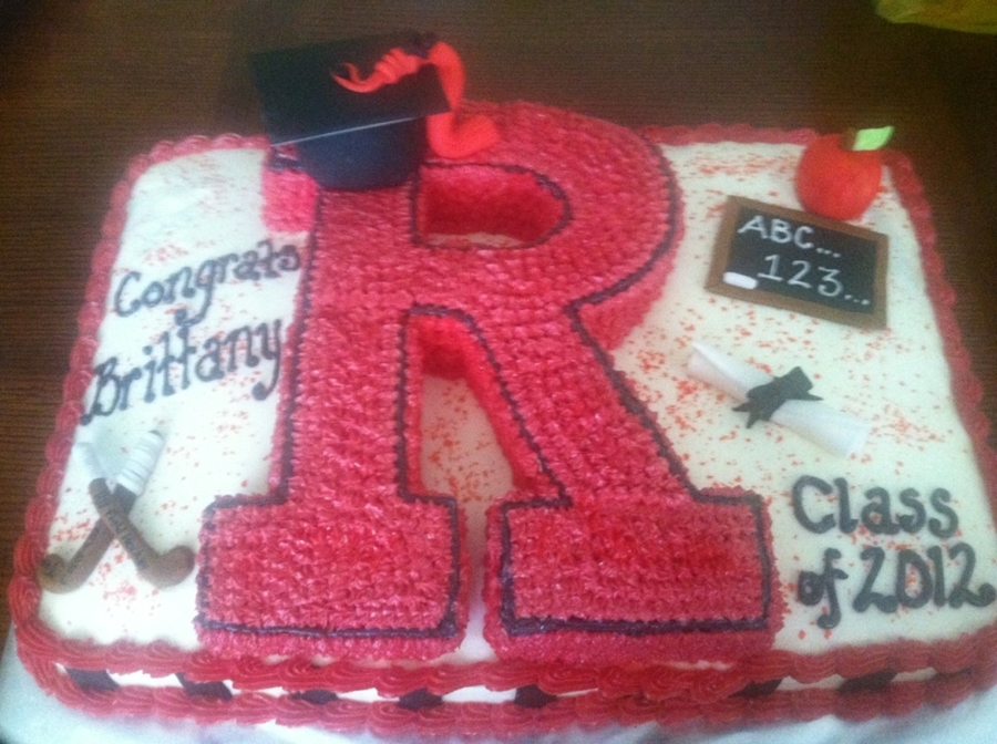 Rutgers Grad Cake on Cake Central