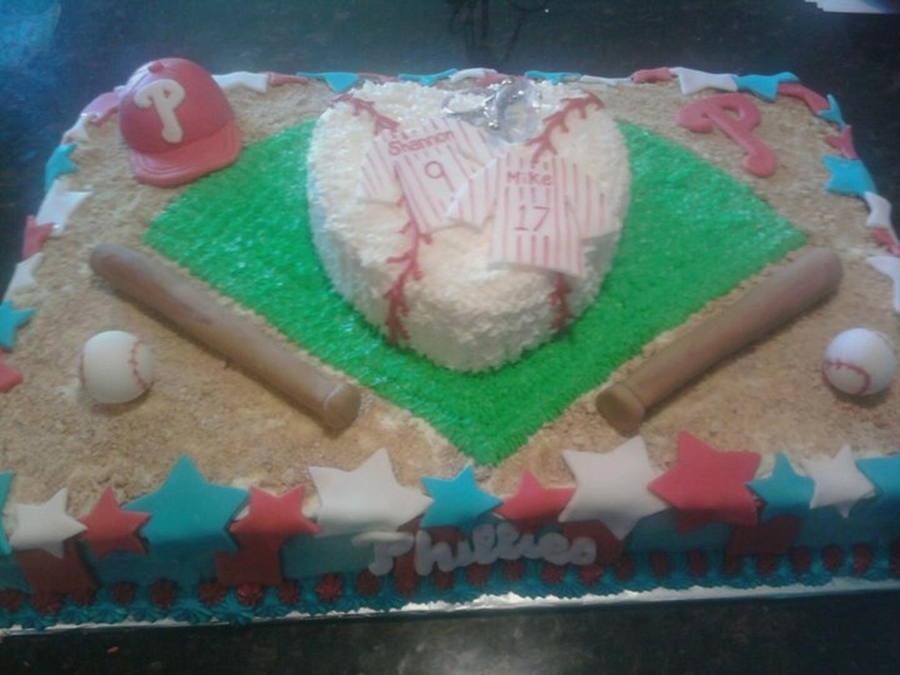 Bridal Shower Phillies Cake on Cake Central