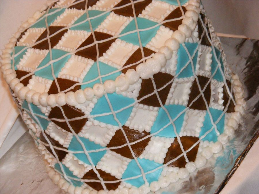Argyle Cake on Cake Central