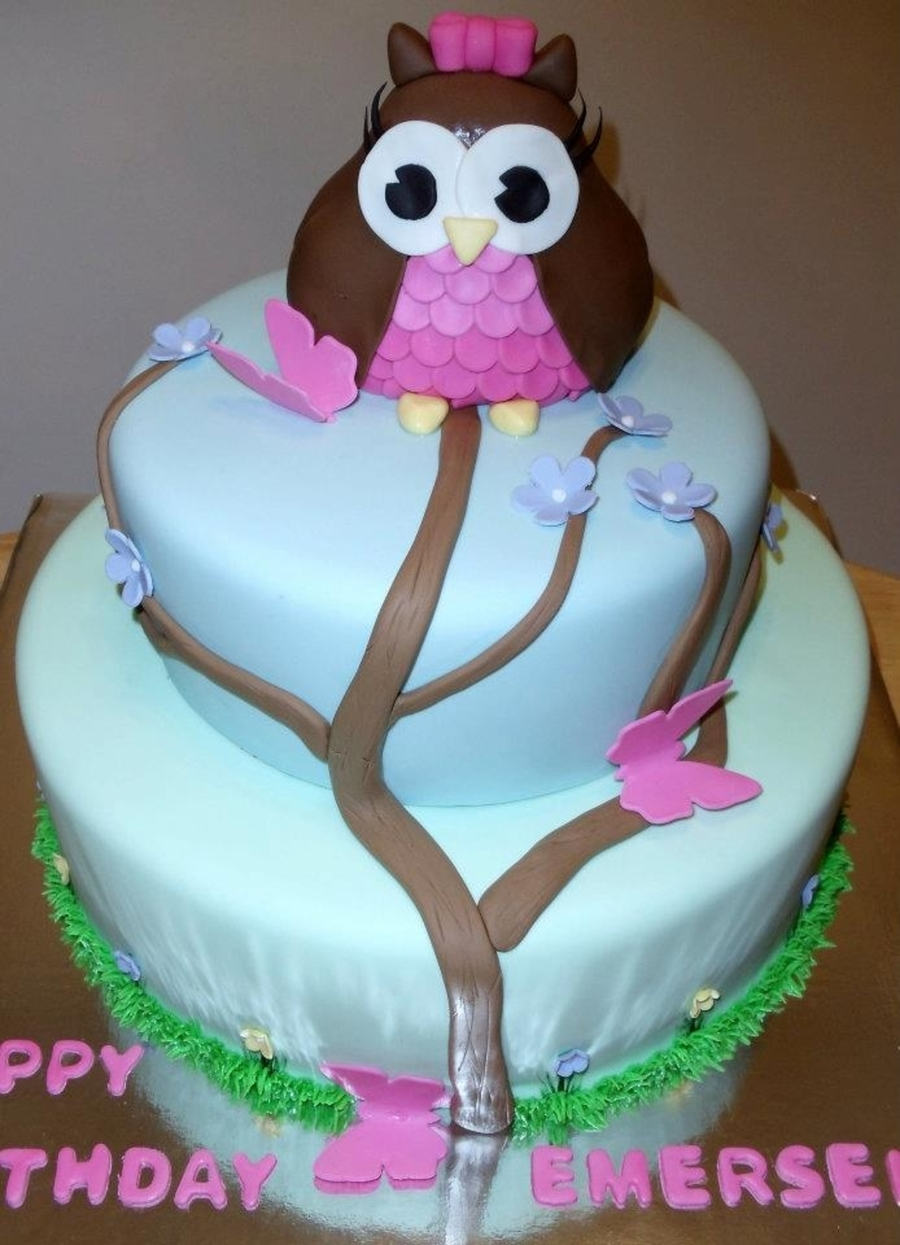 Pretty Owl on Cake Central
