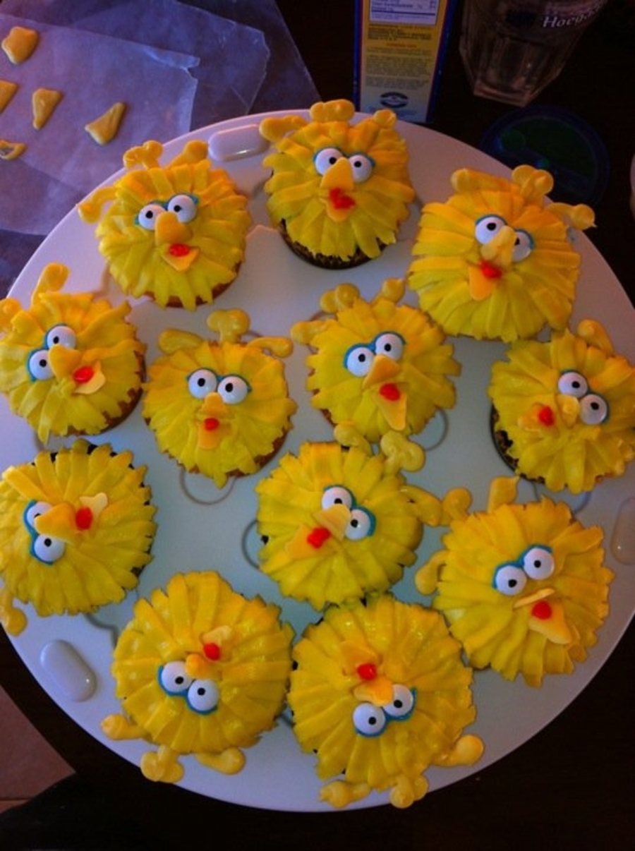 Big Bird Cupcakes on Cake Central