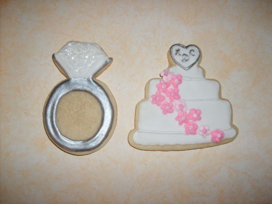 Diamond Ring And Cake W/ Monogram on Cake Central