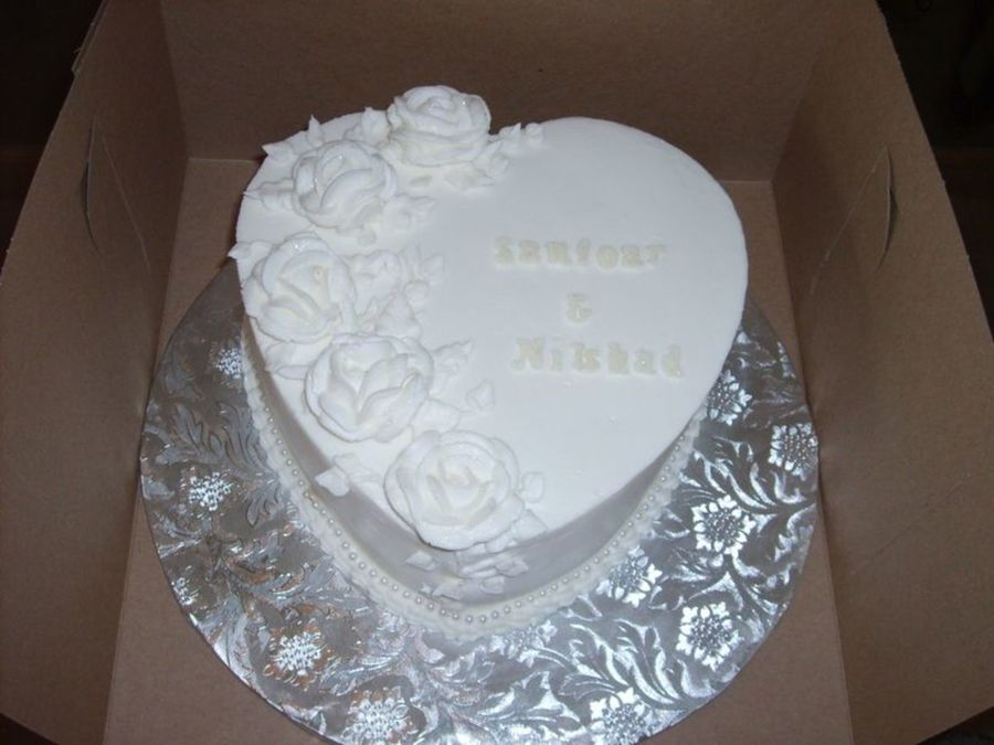 First Anniversary Heart on Cake Central