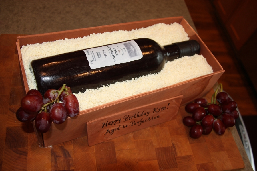 how to make a chocolate wine bottle