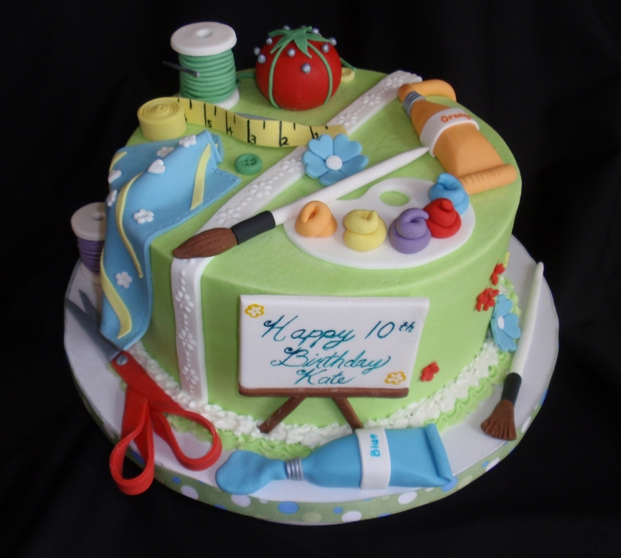 Sewing art cake for Art cake decoration
