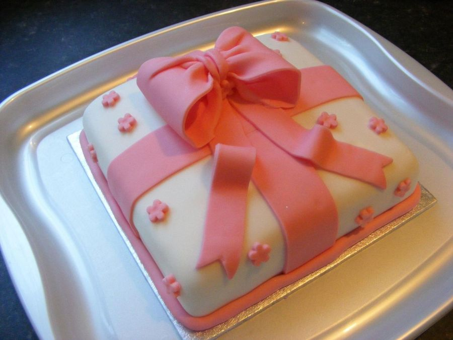 Pink Bow Birthday Cake on Cake Central