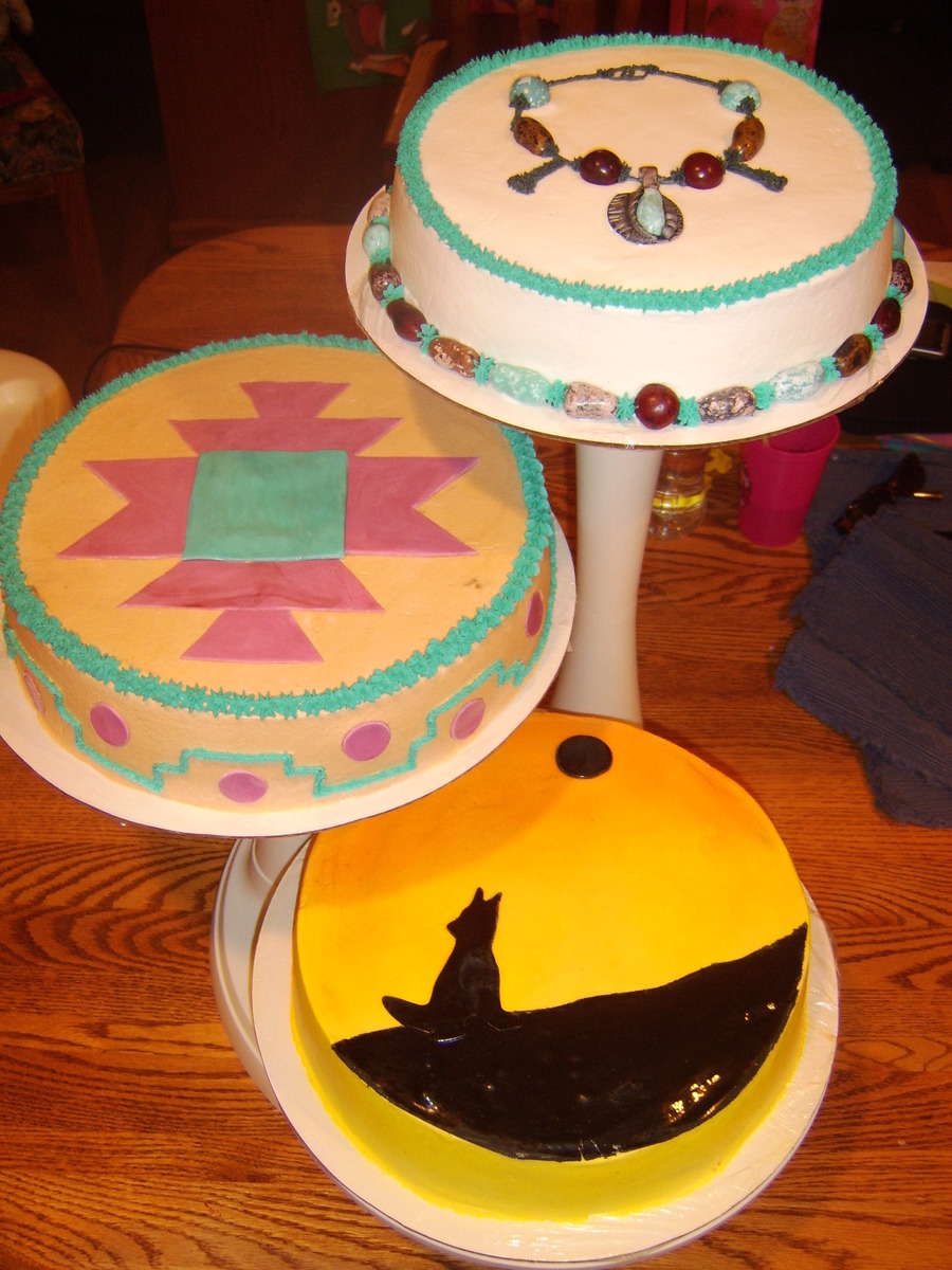 Native American Indian Birthday Cake on Cake Central