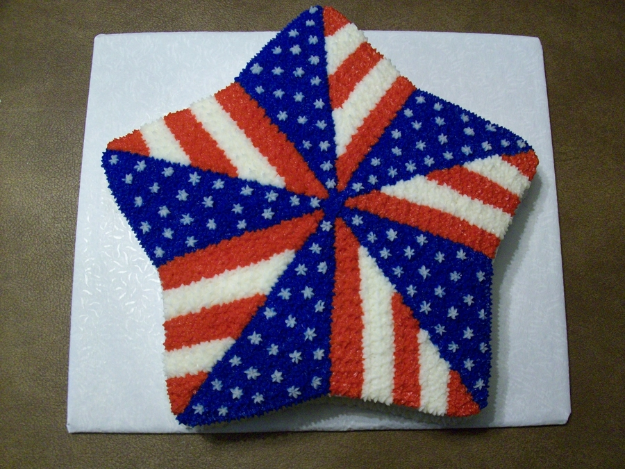 Patriotic Pinwheel  on Cake Central