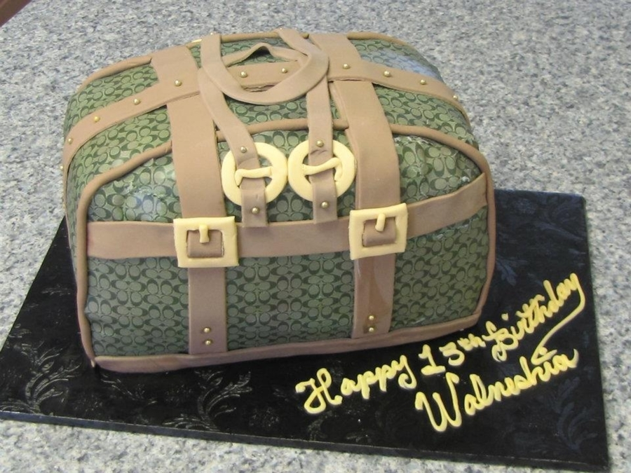 Coach Purse on Cake Central