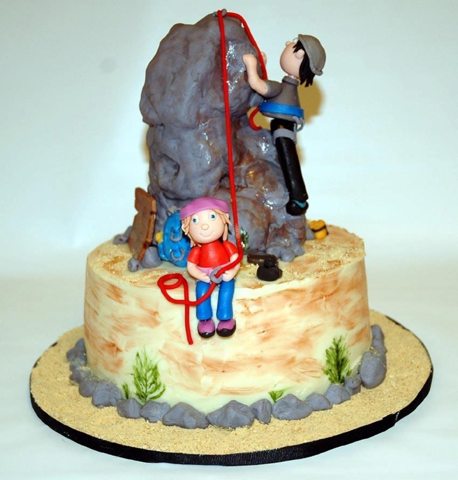 Rock Climbing Birthday Cake