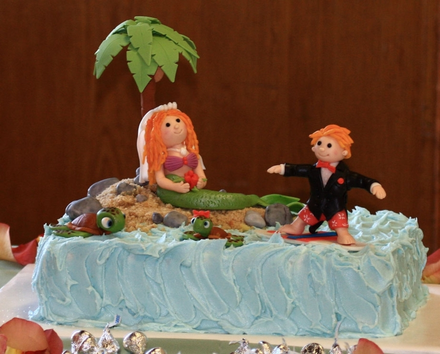 Surfing, Mermaid Groom's Cake on Cake Central