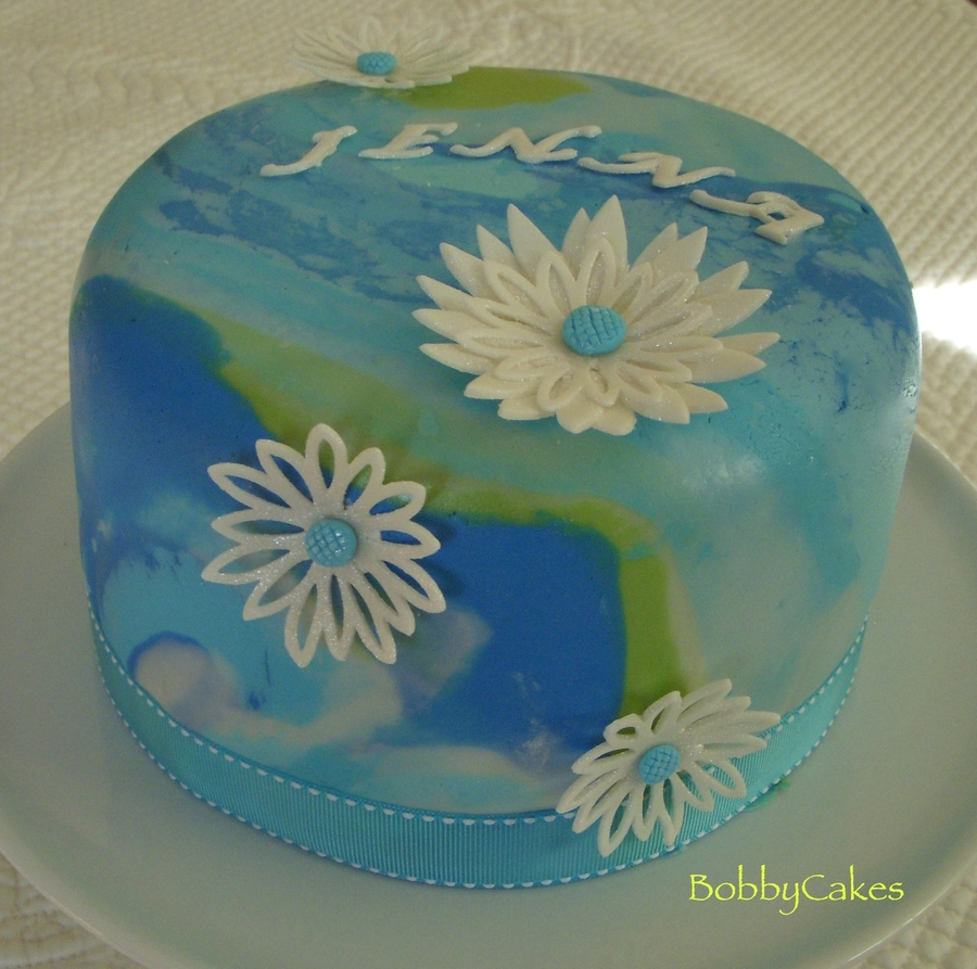 Tie-Dye Birthday Cake on Cake Central