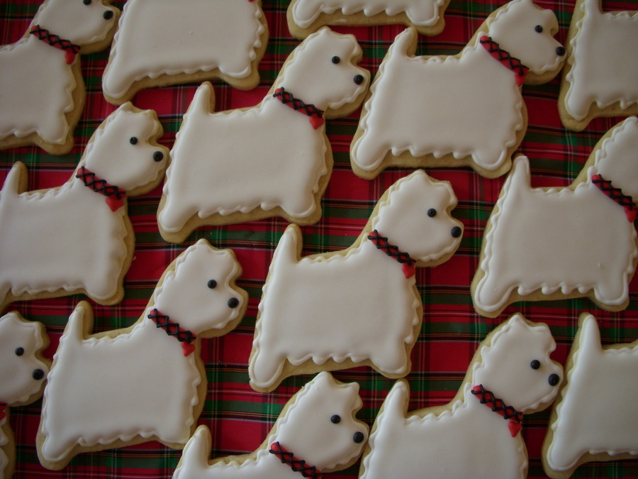 Westie Cookies on Cake Central