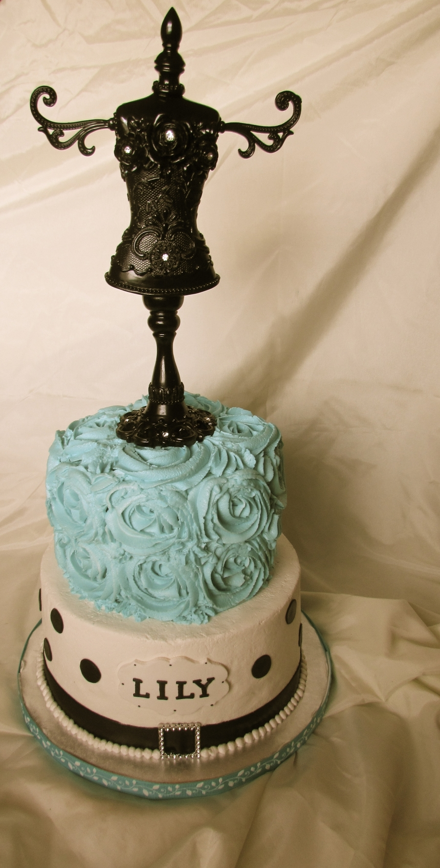 Aqua Parisian Cake on Cake Central