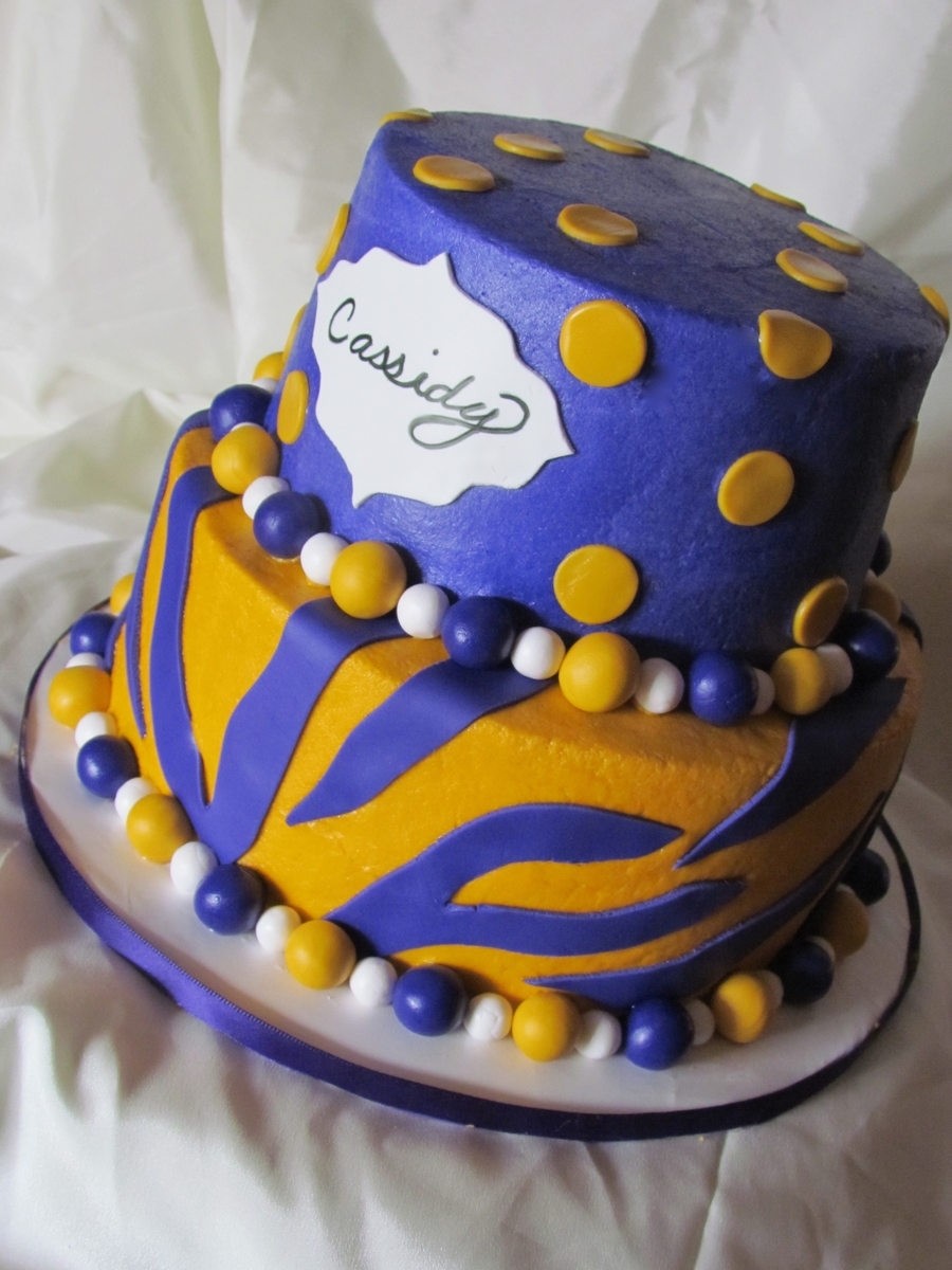 Lsu Girly Cake on Cake Central