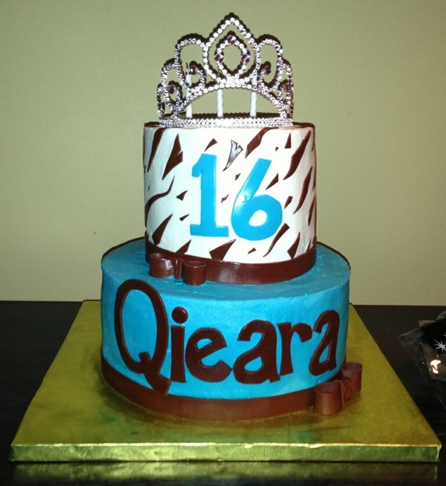 Qieara's Sweetest Sixteen on Cake Central