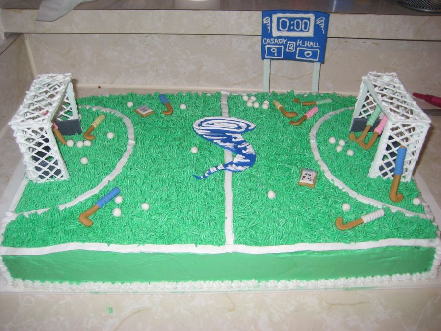 Field Hockey Cake on Cake Central