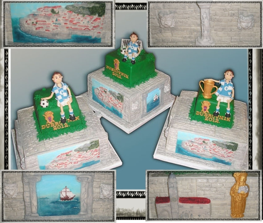 Dubrovnik / Soccer Cake on Cake Central