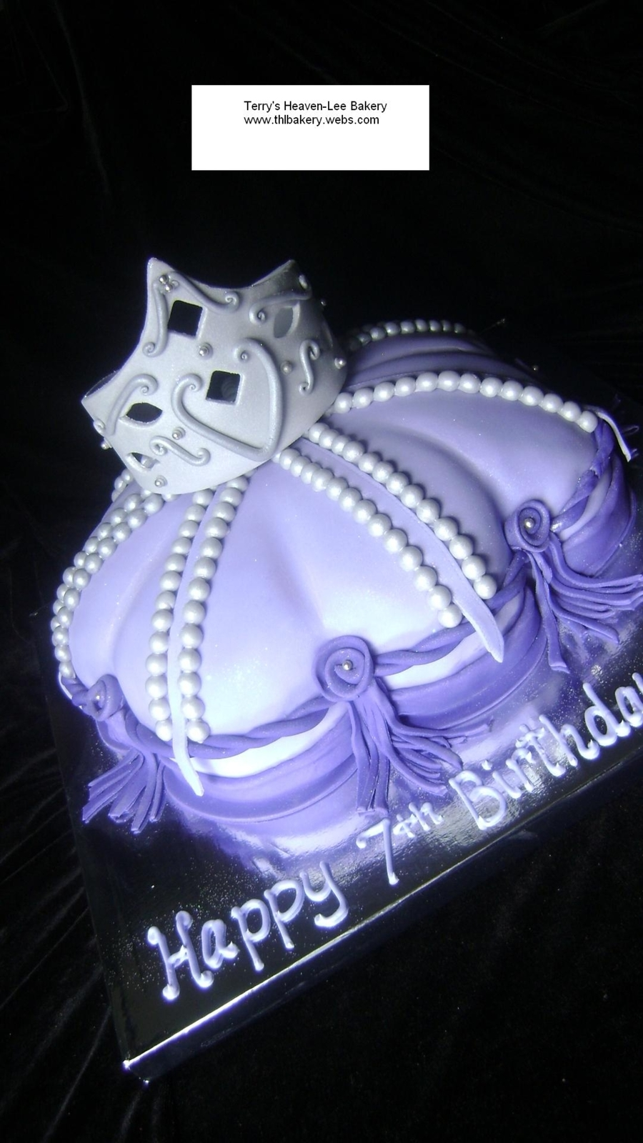 Tiara And Pillow Cake on Cake Central