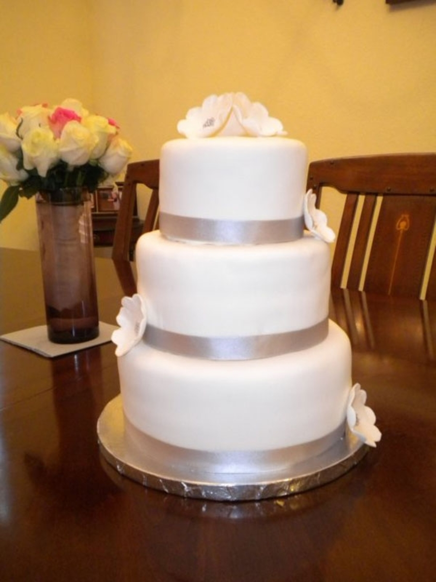 Tiered Wedding Cake on Cake Central