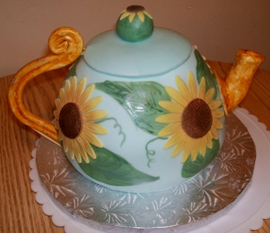 Sunflower Teapot Cake on Cake Central