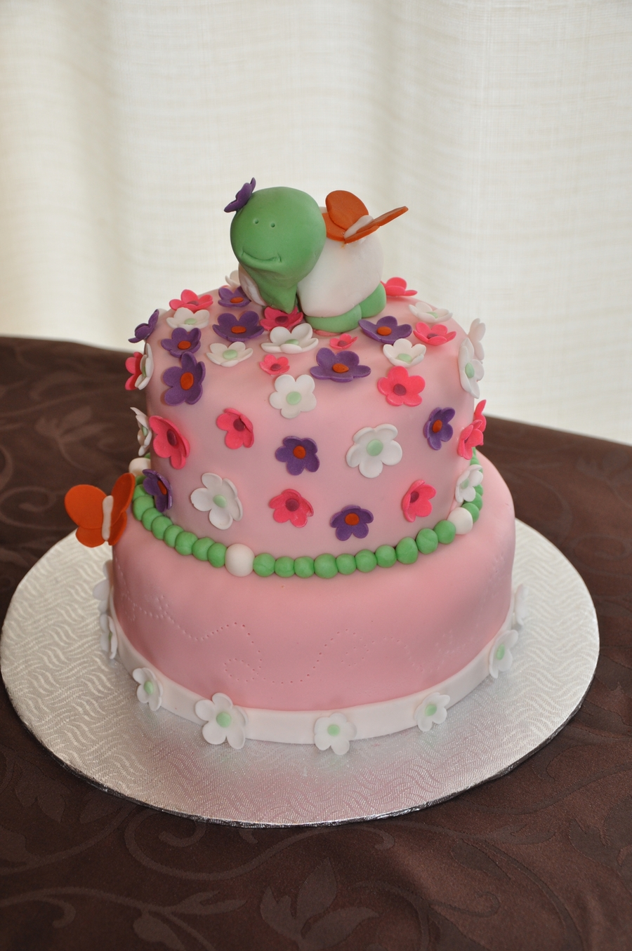 Cute Turtle Birthday Cake Cakecentral
