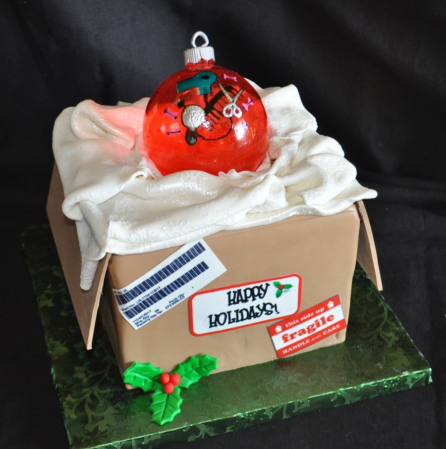 Christmas Box With Ornament on Cake Central